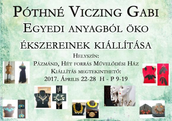 Öko Ékszerek kiállítása Pázmándon @ Hét Forrás Művelődési Ház