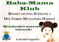 Baba-Mama Klub Pázmándon @ Hét Forrás Művelődési Ház