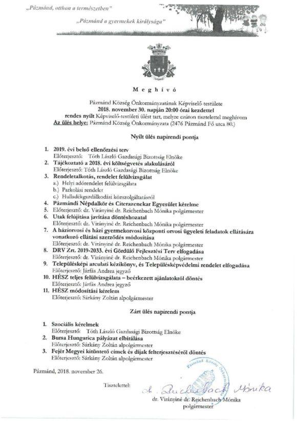 Képviselő testületi és gazdasági bizottsági ülés @ Polgármesteri Hivatal