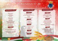 Augusztus 17-20. Ünnepsorozat